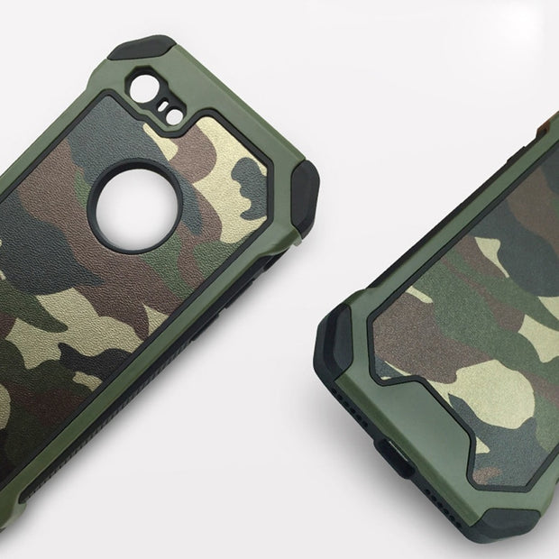 Armor Protective TPU Army Camo Camouflage Cover For IPhone On 6 6S 8 7Plus 5 5S SE X Xs XR Max Shockproof Angle Phone Cases