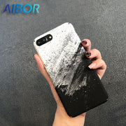 Art Black White Sand Painting Star Sky Sand Rendering Painting Hard Phone Case For IPhone X XS MAX XR 6 6s 7 8 Plus Slim Fundas