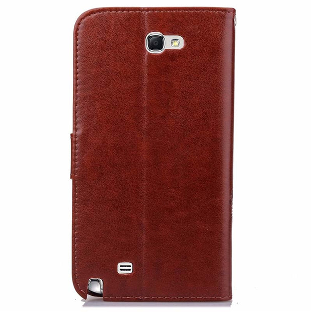 BEFOSPEY Four Lucky Leaves Pu Leather Phone Case For Samsung Galaxy Note 2 N7100