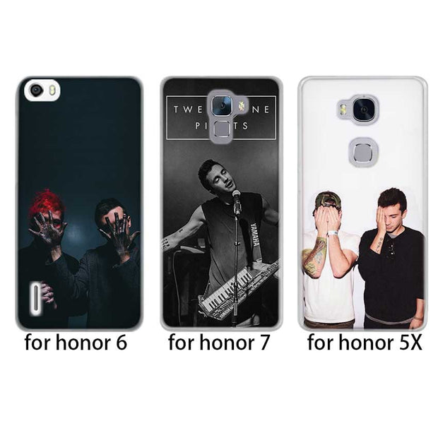 BINFUL Fashion Luxury Phone Cose Cover For Huawei Honor 7 7C 8 8X 9 Lite 10 4C 5X 6 6X 6C 7a Pro 7X Twenty One Pilots