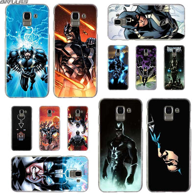BINFUL Transparent Hard Case For Samsung J3 J4 J5 J6 J7 J8 2015 2016 2017 EU 2018 Prime Max Black Bolt