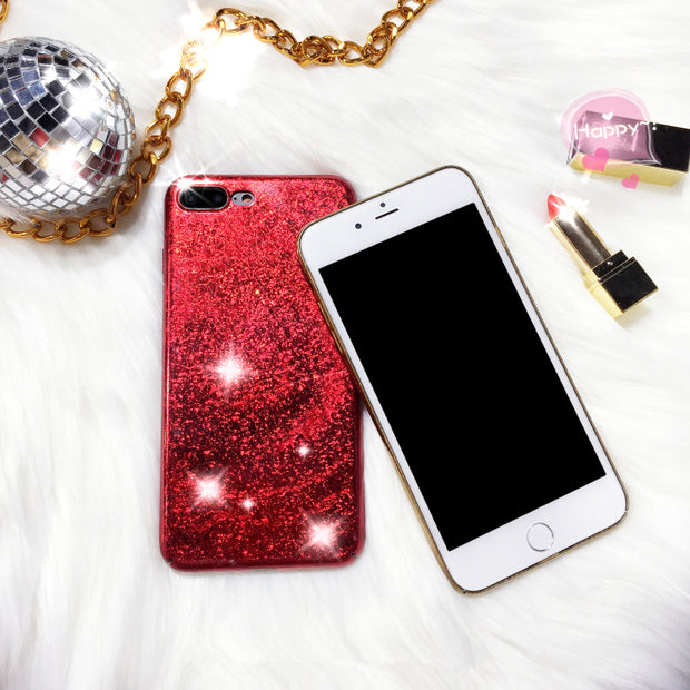 BINYEAE Phone Cases For Coque IPhone 6 6S 7 8 Plus X Case Luxury Bling Glitter Fashion Hard PC Back Cover For IPhone X Case Gold