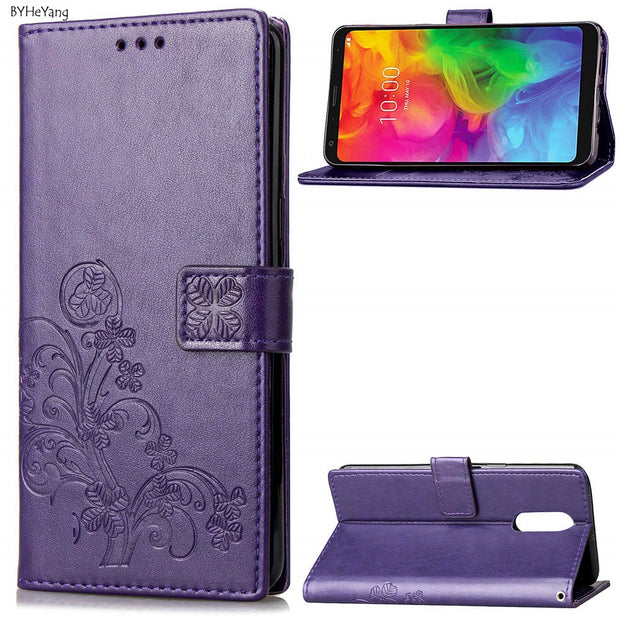 BYHeYang For LG Q7 Case 5 5inch For LG Q 7 Cover Wallet PU