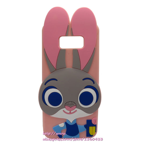 Back Cover For Samsung S8 Case Cover For Samsung Galaxy S8 Plus Case 3D Silicone Cupcake Moblie Phone Cases Cartoon Rabbit