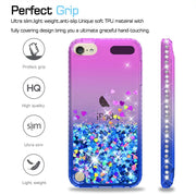 Bling Diamond Glitter Case For Apple IPod Touch 6 Coque For Apple IPod Touch 5 Liquid Quicksand Floating Sparkle Flowing Cover