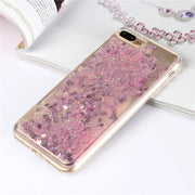 Bling Soft Love Cases For Apple IPhone 7 8 PLUS 8Plus Case Cover Quicksand Liquid Cute Shell Etui Carcasa Capa Coque For IPhone7