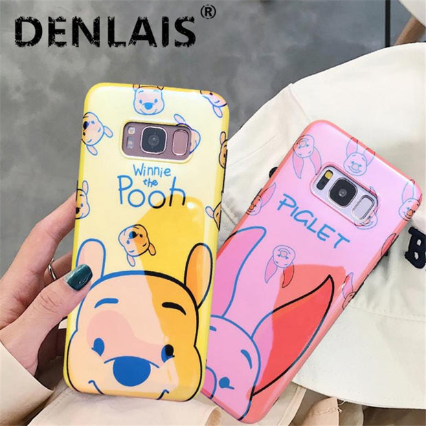 Blue Light Soft Phone Case For Samsung Galaxy S8 Plus S9 Case Cartoon Pig Bear Silicon Cover For Samsung S8 S9 Plus Note8 Note 9