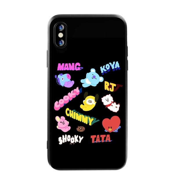 watch df1bc f1736 Brand BTS Cute Cartoon BT21 Silicone Phone Case For IPhone X XS MAX XR Love  Yourself Cover For IPhone 5 5s SE 6 6SPlus 7 8 Plus