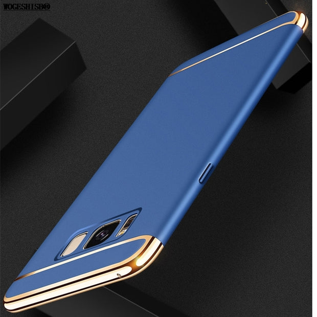 Brand Case For Samsung Galaxy S6 S6edge S7 S7edge Edge S8 S9 Plus Cases Ultra Thin Plastic Cover 360 Degree Protection Cover