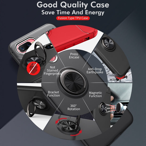 Car Holder Case For OPPO F9 F7 F5 Soft Silicone Magnetic Bracket F7 F5 Phone Case For OPPO F 9 7 5 Coque F9 Back Cover Fundas