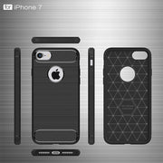Carbon Fiber Phone Cases For IPhone 6 Case 6s Plus SE 5 5s Cases Soft Anti-Knock Cover For IPhone 7 Case 7 Plus Capa Coque