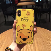 Cartoon Cute Yellow Winnie Pooh Piglet TPU+PC Case For IPhone XS MAX XR X 8 7 Plus 6 6s Plus Case Back Cover Fundas Coque Capa