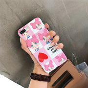 Cartoon Pink Sailor Moon Girl Case For Iphone X 6 6s Plus 7 8 Plus Phone Cases Cute Lovers Heart Soft Silicon Cover Cases Capa