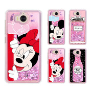 Case For Huawei Mate 10 Lite Case Silicone Liquid Mickey Case Mouse Cover Etui For Huawei Mate 10 Lite Y3 Y5 2017 Cover Case