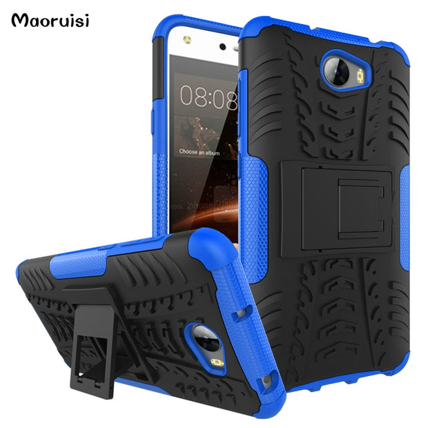 Case For Huawei Y6 II Compact Phone Case Hybrid Silicone +TPU Back Cover Case For Huawei Y6 II 2 Mini Compact Armor Fundas