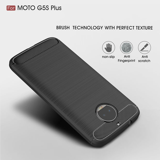 Case For Motorola Moto G5S Plus Cover Top Quality Carbon Soft Silicone Anti-knock Armor Cover For Moto G5S Plus Case 5.5 Inch