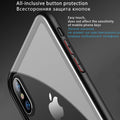 Case For Apple IPhone 6 6s 7 8 Plus XS MAX Soft TPU Tempered Glass Ultra Thin Transparent Glass Back Cover For Apple IPhones X