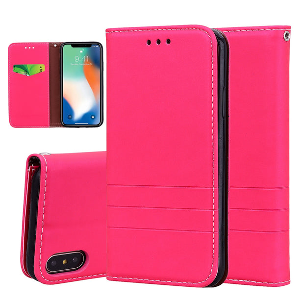 Case For IPhone X XS 5.8inch Flip Leather Cover For IPhone X Magnetic Phone Stander Housing For IPhone X XS Wallet Phone Cases