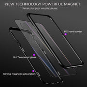 Cleiree 360 Magnetic Adsorption Case For IPhone X XS MAX XR 7 8 Plus Tempered Glass Back Cover For IPhone 6 6s Plus X Hard Case