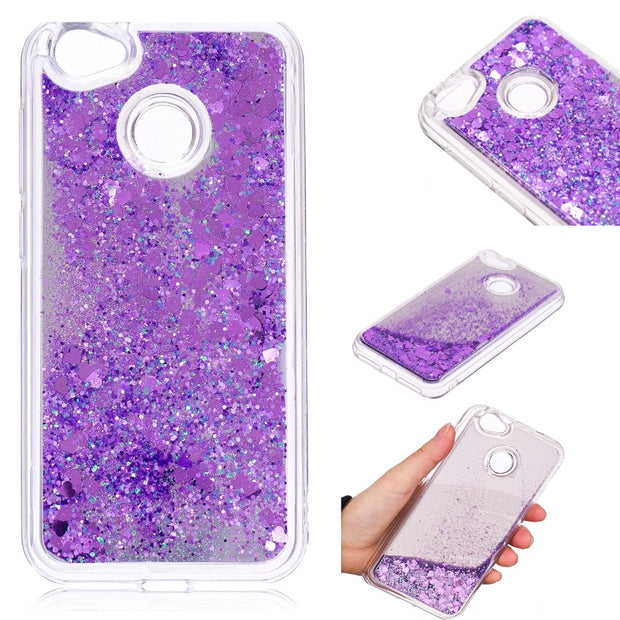 Cover For ZTE Blade A6 Case Quicksand Flash Glitter Powder Mirror Hard Mobile Phone Cases Covers For ZTE A6