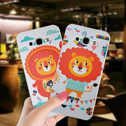 Cute Animal Soft Silicone Case For Samsung Galaxy A8 2016 Anti-knock 360 Full Protection TPU Cover Bag For Samsung A8 2015 Cases