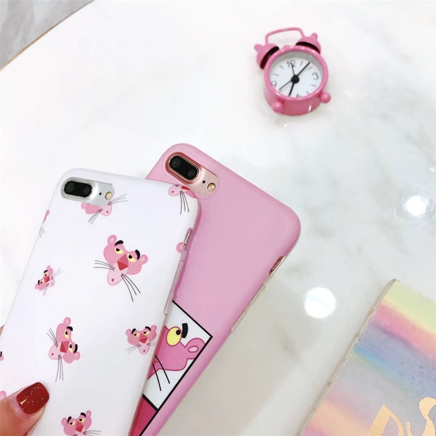 Cute Japanese Kawaii PINK Case Korean Cover For IPhone 6S 6 7 8 Plus IMD Soft Shockproof Back Cover Cases For Iphone X Plus Case