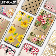 DIY Flower Name Custom Phone Case For Huawei P10 Lite P8 P9 P20 Pro Mate 10lite Customized Print Soft Transparent Silicone Cover