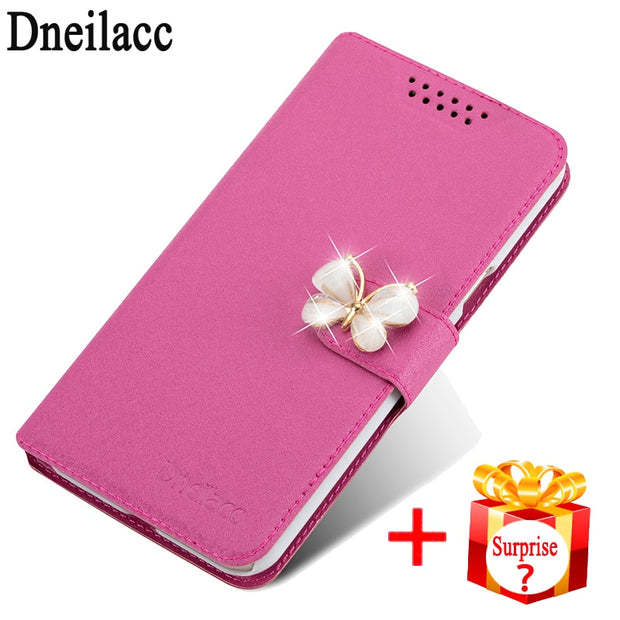 Dneilacc For Lenovo S580 Luxury PU Leather Back Cover Cases For Lenovo S580 Flip Protective Phone Cover Bag Skin