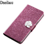 Dneilacc Luxury High Quality Leather Magnetic Auto Flip Wallet Stand Cell Phone Case ZTE Nubia V18 Case Cover