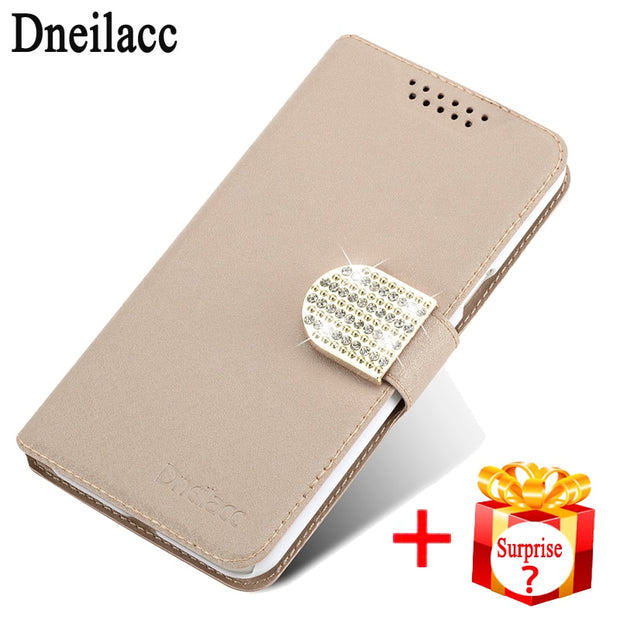 Dneilacc Original For Wiko Jerry 3 Jerry3 Case Flip Luxury Leather Stand Fundas Cover Cases For Wiko Jerry 3 Jerry3