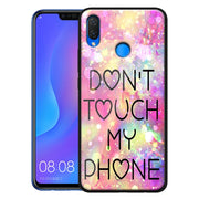 'Don't Touch' Custom Printed Personal Design Tempered Glass Cover For Huawei Nova 4 3i 3 Luxury Case Coque Funda