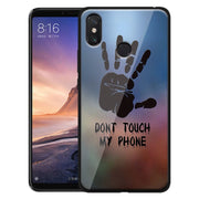 'Don't Touch' Custom Printed Personal Design Tempered Glass Cover For Xiaomi Mi Mix 3 Max3 Mi 8 Lite A2 A1 6X 5X Luxury Case