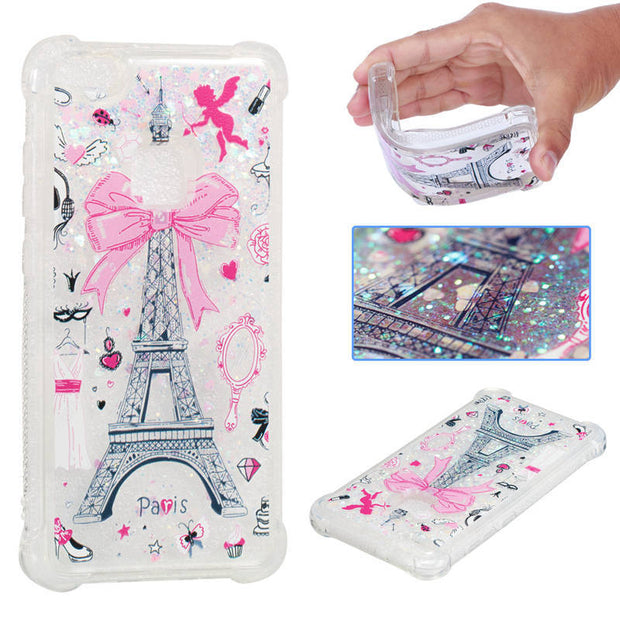 Dynamic Liquid Glitter Sand Case For Huawei P10 Lite Case Printing Cover 3D Stars Anti-Knock For Huawei P10lite Case