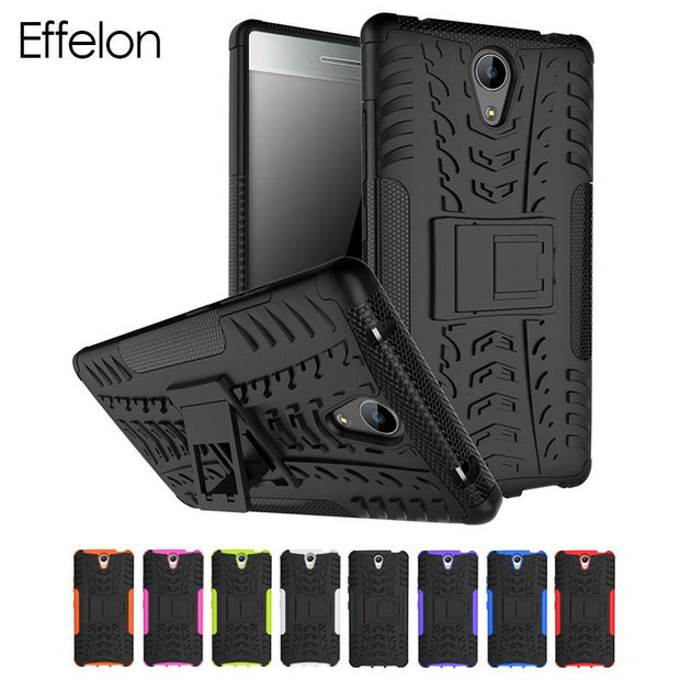 Effelon Cover For Case Lenovo Phab 2 Shockproof TPU + PC Cell Phone Case Cover For Coque Lenovo Phab 2 / Phab 2 Plus Back Cover