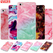 Emerald Painting Soft Case For Huawei P8 Lite Silicone Marble Image Back Phone Shells For Funda Huawei P8Lite Cover Capinha Etui