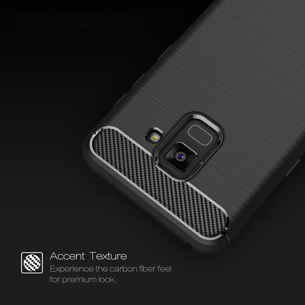 FGHGF Cases For Samsung Galaxy A8 2018 Case Carbon Fiber Anti Knock Soft Tpu Back Cover For Samsung A8 Plus 2018 Case Capa Coque
