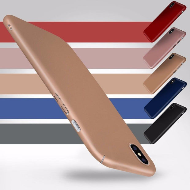 Fashion 360 Full Body Matte Screen Protector Case Cover For IPhone X 8 7 Plus 6 6s Plus Se