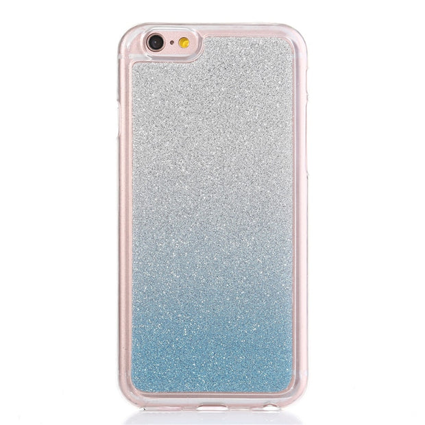 9d5c2e913a3 Fashion Bling Glitter Gradient Rainbow Cases Carcasa For Samsung Galaxy J7  Cover Soft TPU Frosted Shimmering Powder Phone Cases