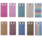 Fashion Bling Glitter Case Capas Para For Samsung Galaxy E7 Cover Soft TPU Frosted Matte Shimmering Powder Mobile Phone Cases