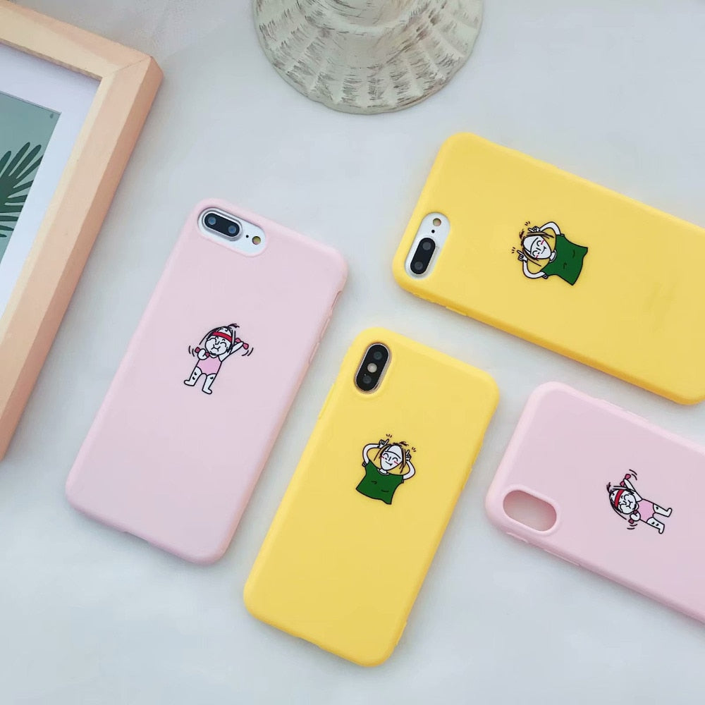 finest selection 6174c 8c7b0 Fashion Candy Scrub Soft TPU Silicone Case For Iphone 6 6s 6plus Cute  Sports Girl Cover For Iphone 7 8 Plus X Coque