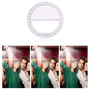 Fashion LED Photography Flash Light Up Selfie Luminous Lamp Night Phone Ring Camera Enhancing For IPhone 7 Plus 6 6S Plus 5s 5C