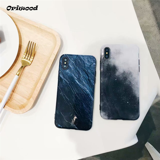 Fashion Ocean Starry Sky Painting Soft TPU IMD Shockproof Silicon Phone Case Capa For IPhone 6 6S Plus 7 8 Plus X 10 Funda Capa