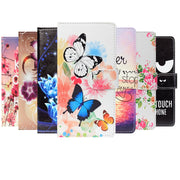 "Fashion PU Leather Flip Print Wallet Case For Alcatel 1X 5059D Case Cover Book Case 5.3"" Ultra-thin Phone Cover"
