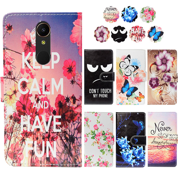 "Fashion PU Leather Flip Print Wallet Case For Gome U7 Mini Case Cover Book Case 5.45"" Ultra-thin Phone Cover"