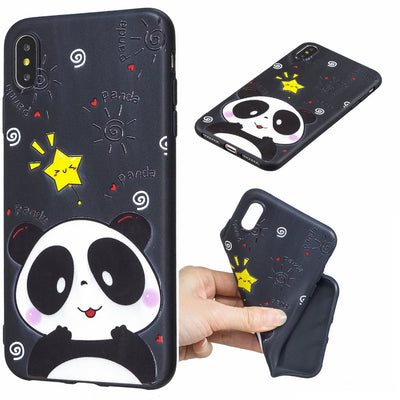 Fashion Shockproof Varnish Relief Black Various Picture Case For IPhone XR Protective Soft TPU Back Cover Case For IPhone XS Max