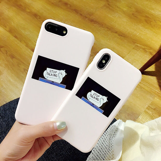 Fashion Ultra-thin English Letter TPU Case For Iphone X 8 8 Plus 7 7 Plus Case For Iphone 6 6s 6 Plus Back Cover Fundas Coque