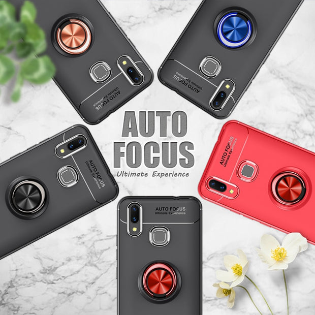 Fitted Case For Huawei Nova 3 Cover Colorful Ring Magnetic Car Holder Case For Huawei Nova 3i 2 2S Y7 Prime Y5 Y9 2018 TPU Coque