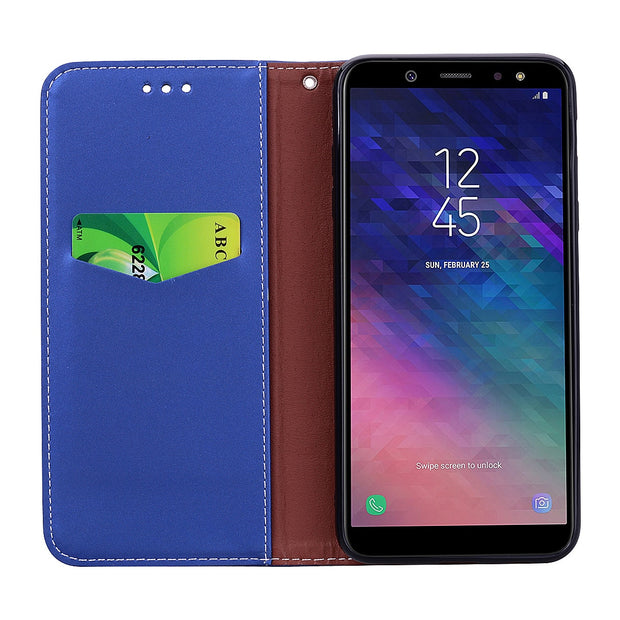 Flip Case For Samsung Galaxy A6 A6 Plus 2018 Case Cover Leather Luxury Case For Samsung A6 A 6 2018 A600F Funda Cover For A6plus