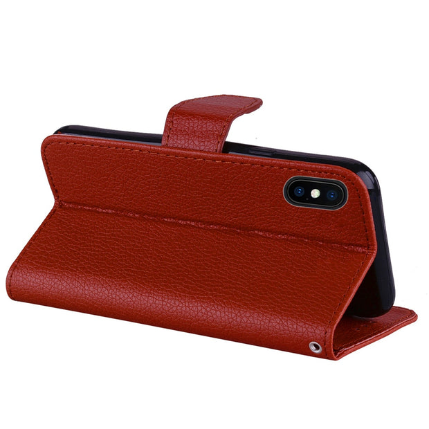Flip Leather Case For IPhone X XR XS Max Case For IPhone 5 5S SE 5C 7 8 6 6S Plus Ipod Touch 5 6 Cover Wallet Stand Phone Cases