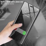 Flip Leather Mirror Case For Huawei Honor 10 V10 P20 Lite Pro P Smart P10 Plus Mate 10 Pro 8 P8 P9 Lite 2017 Stand Phone Holder